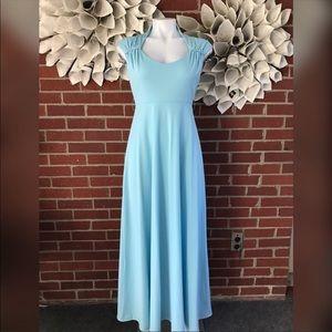 Dresses & Skirts - Vintage powder blue empire gown